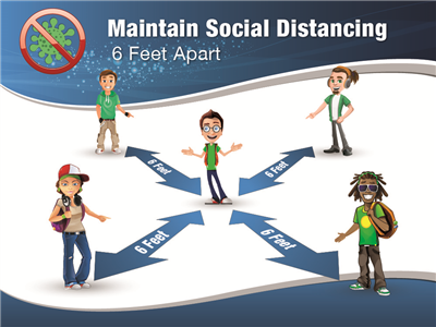 Social Distancing Poster - 18x24 in